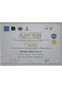 Oio Vivo - nagrade i diplome